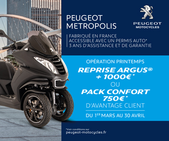 Peugeot Motocycles Argus reprise scooter