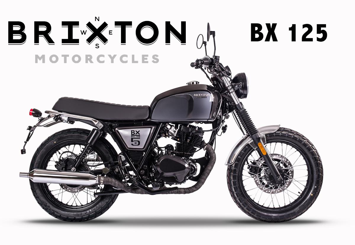 Moto noire Brixton BX 125