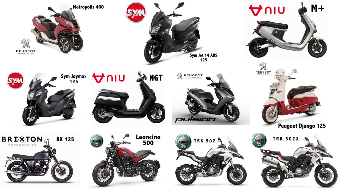 motos scooters essais peugeot vespa piaggio niu sym benelli brixton